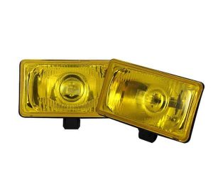 3.5 x 6.5 Inch Universal Halogen Fog Lights W/Cover and Switch – Yellow