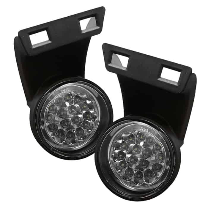 94-01 DODGE RAM 1500 2500 3500 LED CRYSTAL SMOKE HEAD LIGHTS W//CHROME BUMPER FOG