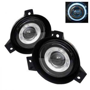 01-03 Ford Ranger (Circle Sharp Bumper) Halo Projector Fog Lights – Clear