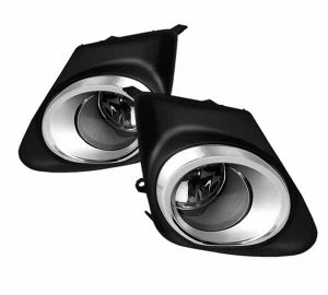 11-12 Toyota Corolla (With Chrome rim design in the cover frame) OEM Fog Lights – Clear