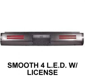 1999-2006 CHEVROLET TAHOE, YUKON, SUBURBAN Steel Rollpan – Smooth, 4 LED Strip w/ License
