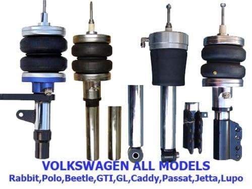 1985-1992 Volkswagen Vento Rear Air Suspension, Strut Kit (no fittings)