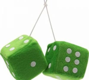 3″ Hanging Fuzzy Dice (PAIR) – Green