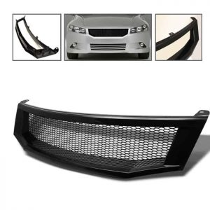 08-09 Honda Accord 4Dr Front Grille – Black