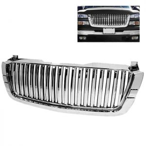 03-06 Chevy Silverado Center Only ( Require HD-YD-CS03-1PC Headlight ) Front Grille – Chrome