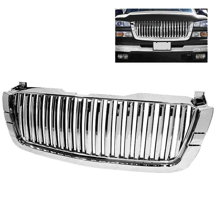03-06 Chevy Silverado Center Only ( Require HD-YD-CS03-1PC Headlight ) Front Grille - Chrome