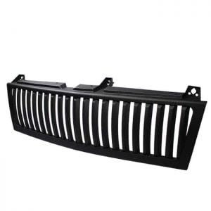 1500/2500/3500 Chevy Silverado 99-02 / Chevy Suburban 1500/2500 00-06 / Chevy Tahoe 00-06 Center Only ( Require HD-YD-CS99-1PC Headlight ) Vertical Front Grille – Black