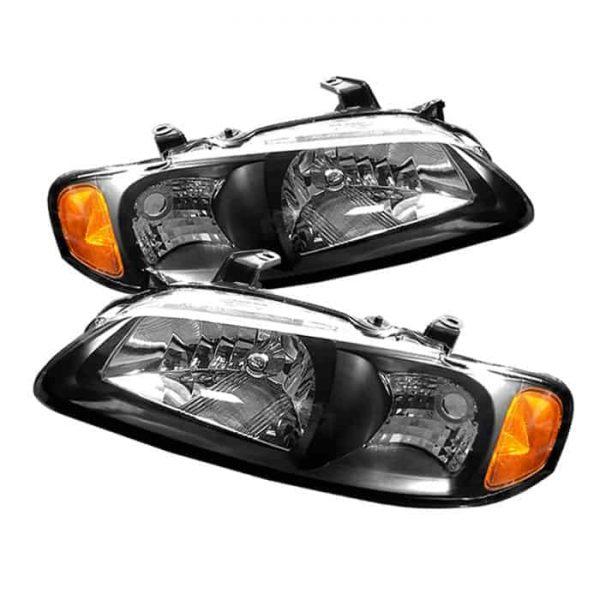 00-03 Nissan Sentra Crystal Headlights – Black