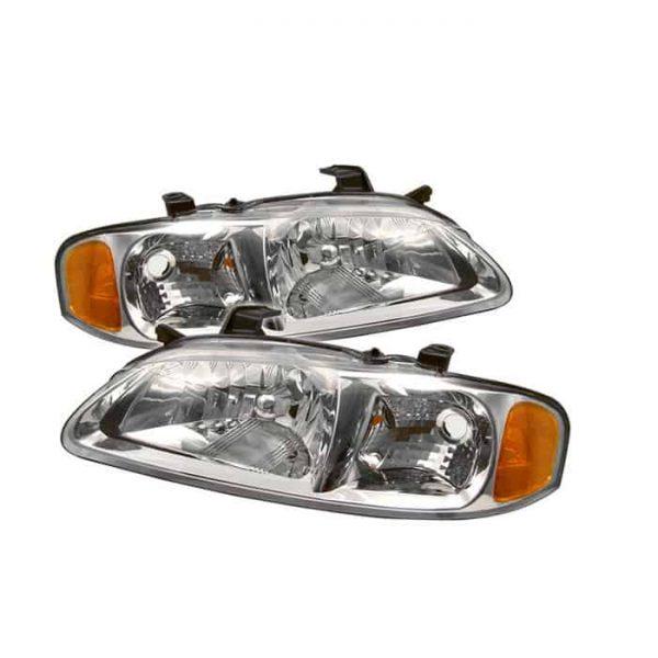 00-03 Nissan Sentra Crystal Headlights – Chrome