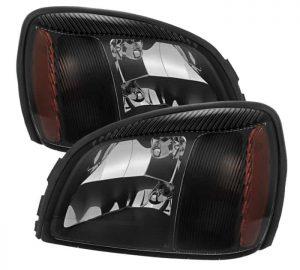 2000-2005 Cadillac Deville Crystal headlights – Black