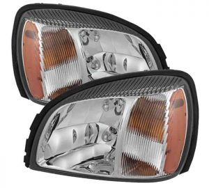 2000-2005 Cadillac Deville Crystal headlights – Chrome