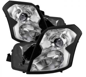 2003-2007 Cadillac CTS Crystal Headlights (Halogen Model Only-Not Compatible With HID Model) – Chrome