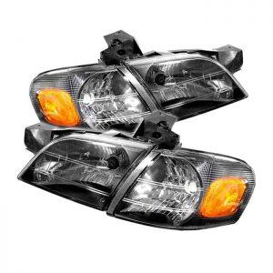 97-05 Chevy Venture Crystal Headlights – Black