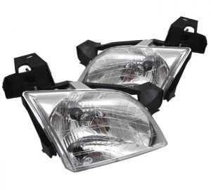 1997-2005 Chevy Venture 1-PC LED Crystal Headlights – Chrome