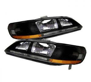 98-02 Honda Accord JDM Crystal Headlights – Black