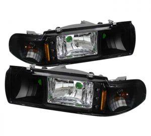 1991-1996 Chevy Caprice / Impala 1PC LED Crystal Headlights – Black