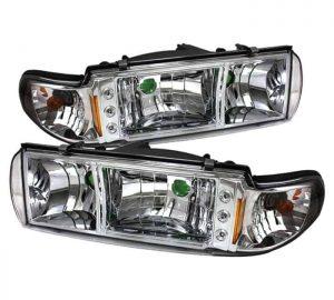 1991-1996 Chevy Caprice / Impala 1PC LED Crystal Headlights – Chrome