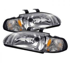 92-95 Honda Civic 4 Door 1PC Crystal Headlights – Chrome