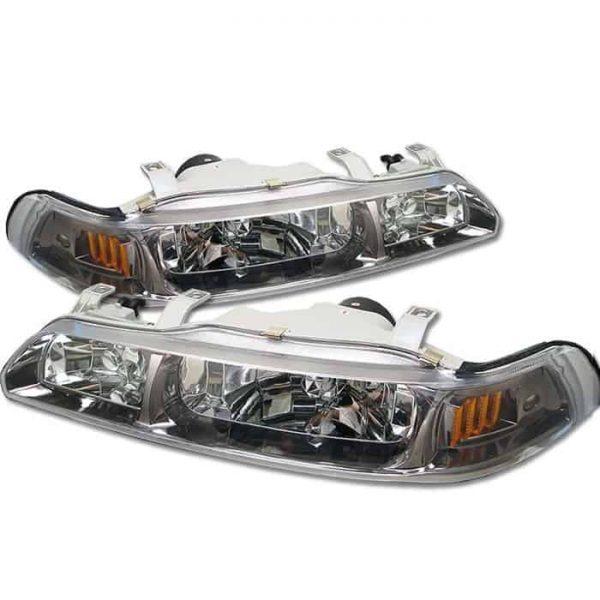 90-93 Acura Integra 1PC Crystal Headlights – Titanium
