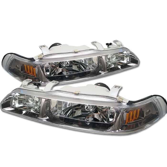 90-93 Acura Integra 1PC Crystal Headlights