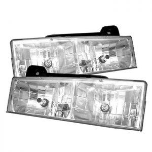 1988-1998 Chevy C-10 C/K Series, 1500, 2500, 3500 Glass Crystal Headlights