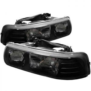 99-03 Chevy Silverado Crystal Headlights – Black