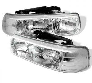99-03 Chevy Silverado Crystal Headlights – Chrome