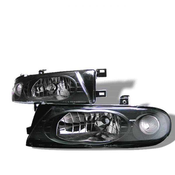 93-97 Nissan Altima Crystal Headlights – Black