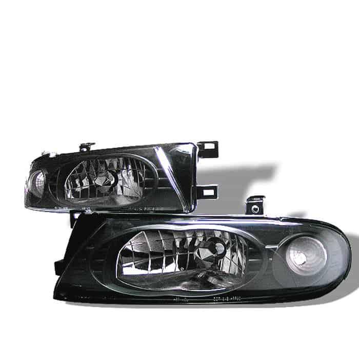 93-97 Nissan Altima Crystal Headlights - Black