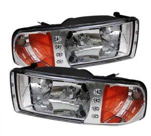 1994-2001 Dodge Ram 1500/2500/3500 1PC Crystal Headlights – Chrome