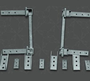 Two Door Pre-aligned Suicide Hidden Hinge System