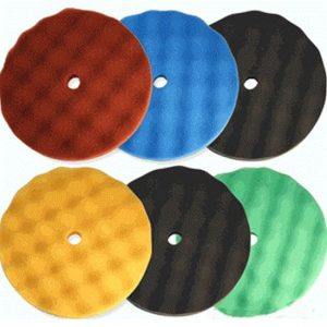 8″ Velcro Waffle Foam Buffing Pad Kit