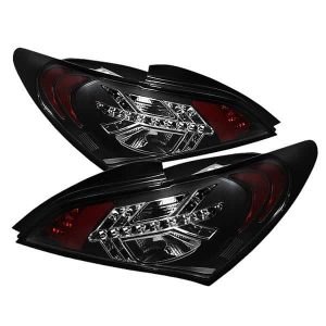 10-12 Hyundai Genesis LED Tail Lights – Black