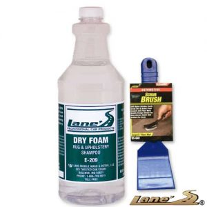 Dry Foam Professional Carpet Upholstery Seat Cleaner & Carpet Scrub Brush Kit 32oz