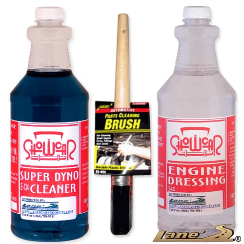 Show Car Engine Degreaser Cleaner Dressing Kit 32oz X2 Industries