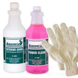 Auto Interior Shine, Auto Detail Microfiber Gloves and Vinyl Cleaner Kit 16oz
