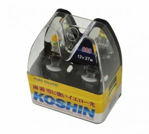 Hyper Koshin 880 Yellow Halogen Light Bulbs 12V 27W
