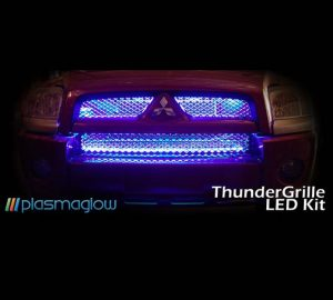 ThunderGrille LED Grille Kit – 2 Piece (Blue)