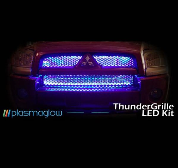 ThunderGrille LED Grille Kit – 4 Piece (Black Light)