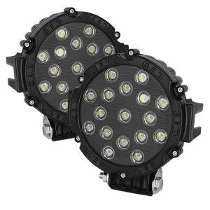 Lights LED Round – 7 Inch 17pcs 3W LED Total 51W – Black
