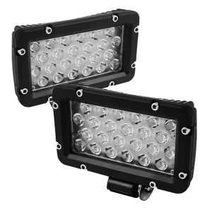 Lights LED Square 8 Inch 24pcs 1W LEDs Total 24W – Black