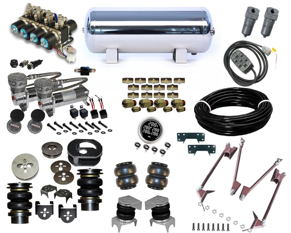 1969-1972 Chevrolet Nova, Special 4-Link Plug and Play Air Suspension Kit