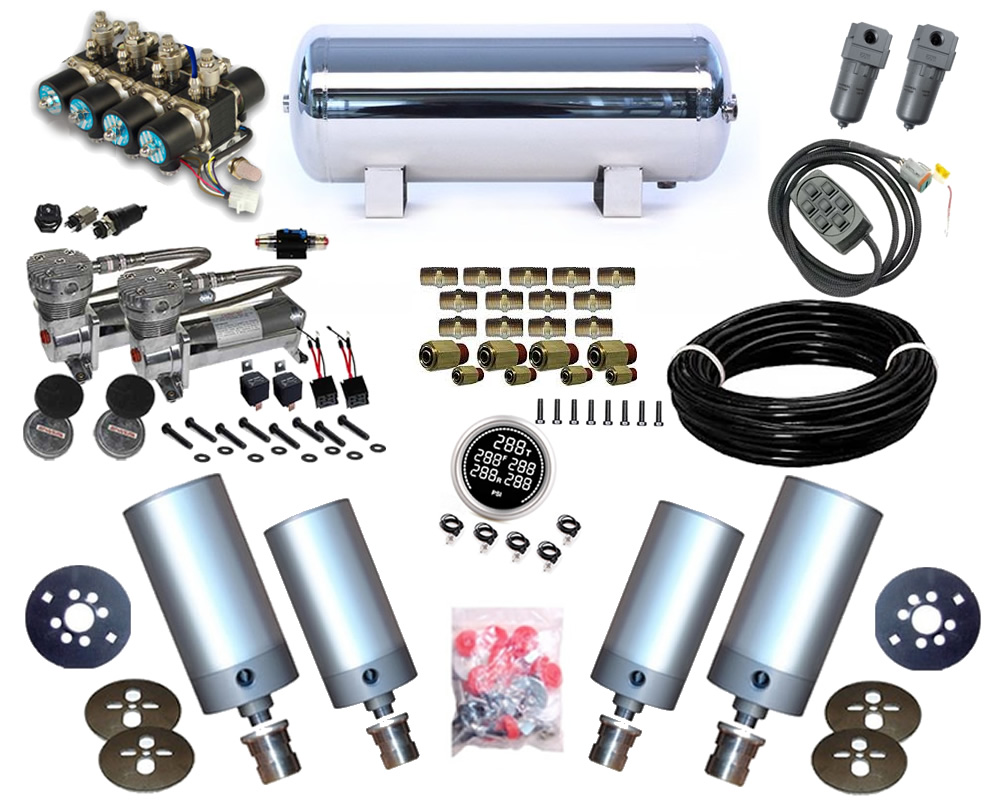 1995-1999 Dodge Stratus 2Dr, Cirrus, Breeze Plug and Play Air Suspension Kit - Cylinder Kit