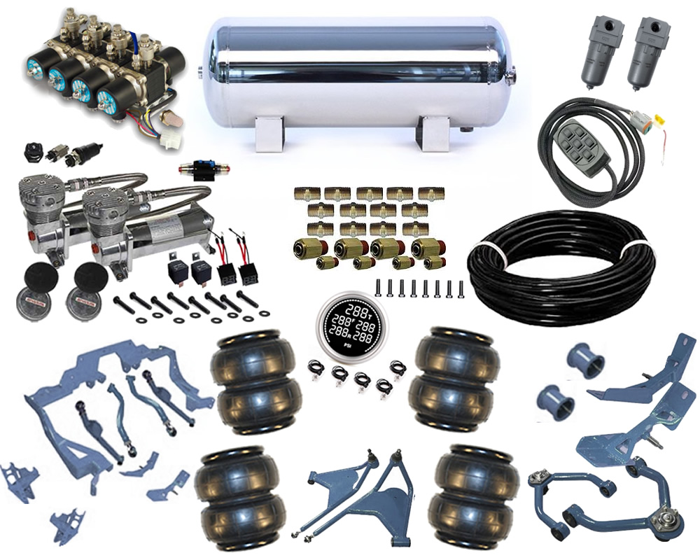 1964-1969 Lincoln Continental Plug and Play Air Suspension Kit - Street Scraper