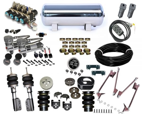 2005-2006 Dodge Dakota, Mitsibishi Raider Plug and Play Air Suspension Kit