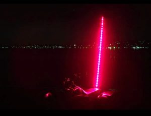 Plasmaglow ATV LED Whip – 6ft (Red)