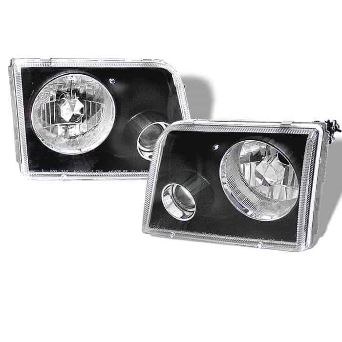 1993-1997 Ford Ranger Projector Headlights - Black