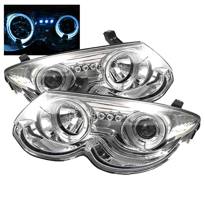 1999 2004 Chrysler 300m Halo Led Projector Headlights Replaceable S Chrome