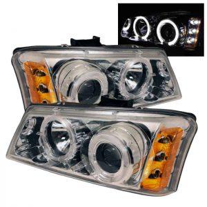 2002-2006 Chevy Silverado, Avalanche Halo LED Projector Headlights – Chrome