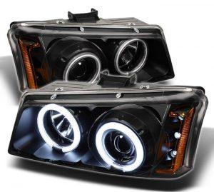 2002-2006 Chevy Silverado, Avalanche CCFL LED Projector Headlights – Black